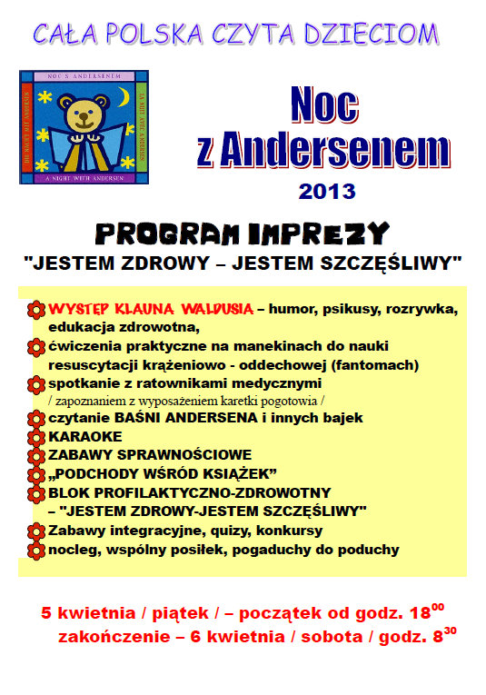 Program VIII Nocy z Andersenem